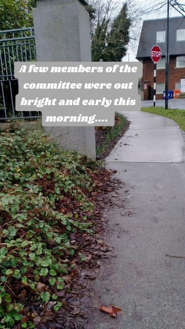 A few members of the committee were out bright and early this morning....